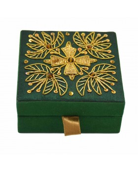 Green-Golden Zardozi Gift Box