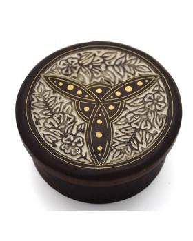 Lily Flower Antiqued Wooden Box