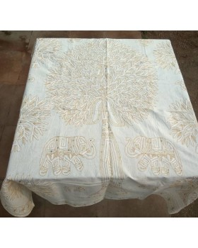 White Color Tablecloth