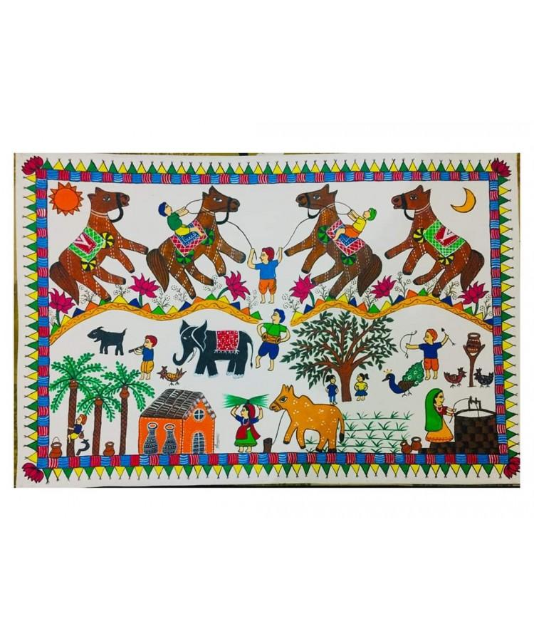 Painting - Pithora art ( folk art ) 1-Global Artisans