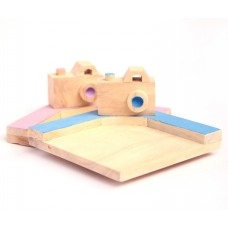 IVEI Wooden Camera Mug Coasters (set of 2)