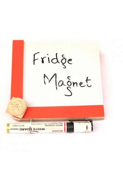 IVEI wooden Fridge magnets with a whiteboard and hooks - Burger