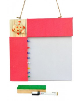 IVEI Pin board + whiteboard, Combination board Turtle - Pink