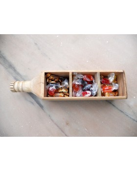 IVEI wooden bottle shaped shot glass holder