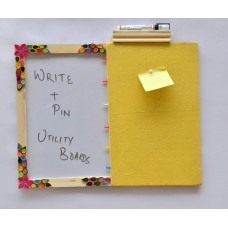 IVEI Pin board + whiteboard, Combination board - paper quilling work
