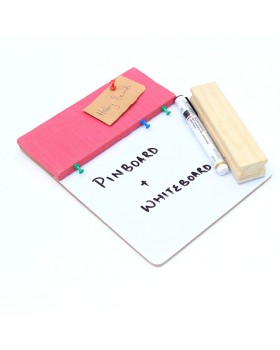 IVEI Pin board + whiteboard, Combination board - Small (Pink)