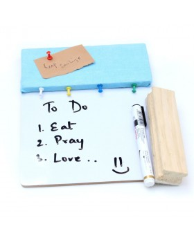 IVEI Pin board + whiteboard, Combination board - Small (Blue)