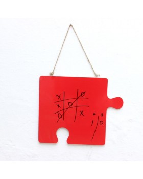 IVEI Puzzle shaped coloured Writing Board (Red)