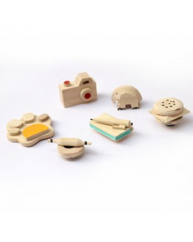 IVEI cute wooden miniature fridge magnets - set of 6