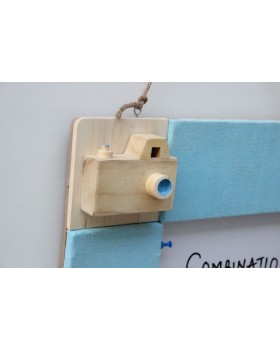 IVEI Pin board + whiteboard, Combination board Camera - Blue