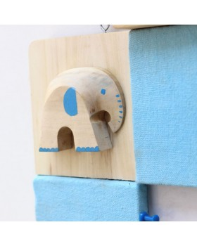 IVEI Pin board + whiteboard, Combination board elephant - Blue