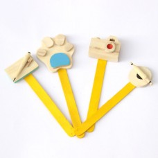 IVEI wooden miniature Bookmark (set of 4)