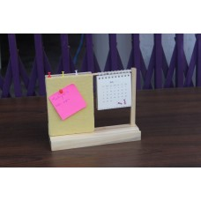 IVEI warli desk calendar with a pin board - Yellow