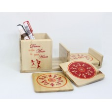 IVEI warli music desk organizer with coasters