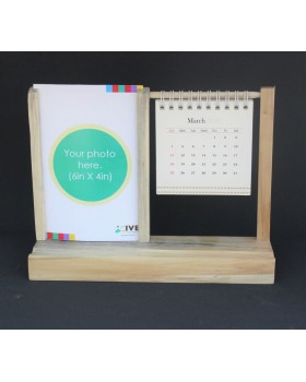 IVEI warli desk calendar with a photo frame