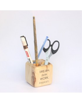 IVEI Wooden Pen stand Cube - dream