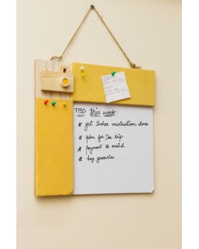 IVEI Pin board + whiteboard, Combination board Camera - Yellow