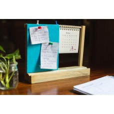 IVEI warli desk calendar with a pin board - Blue