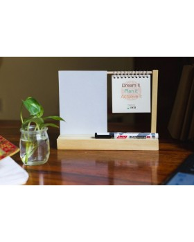 IVEI warli desk calendar with a whiteboard