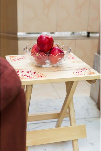IVEI warli wooden portable folding table - large (16in)