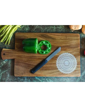IVEI Mandala solid teak wood chopping board - mandala