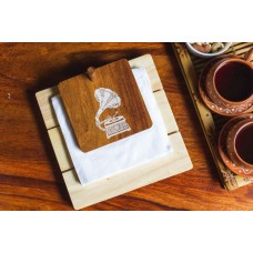 IVEI Mandala solid wood napkin holder - gramophone