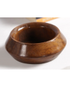 Brown Solid Wood Vase