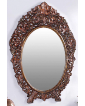 Brown Solid Wood Mirror
