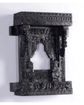 Black Solid Wood Jharokha