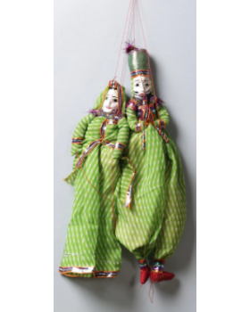 Green  Pupet Wall Hangings Set of 2