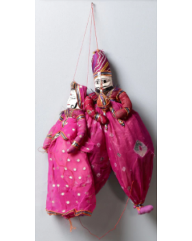 Pink  Puppet Wall Hanging  Set of 2
