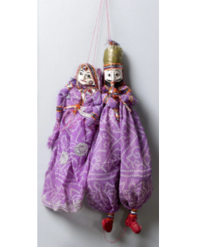 Purple Pupet Wall Hangings  Set of 2