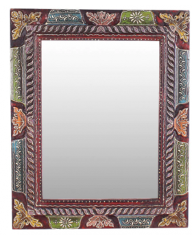 Multicolour Jodhpuri Handpainted Mirror