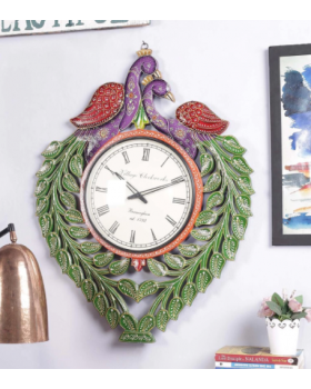 Multicolour Solid Wood Wall Clock