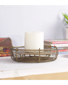 CIRCULAR METAL CANDLE HOLDER