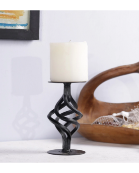 SPIRAL METAL CANDLE STAND
