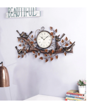 Multicolour Metal Wall Clock
