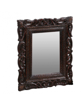 Brown Solidwood Mirror