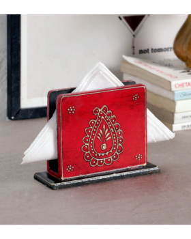 Red  Tissue Holder