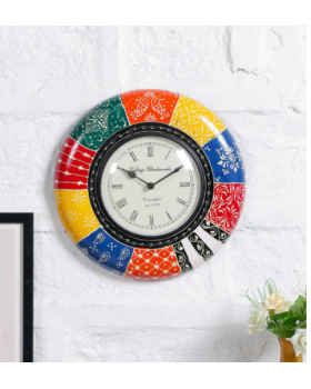 Multicolor Handpainted Wall Clock
