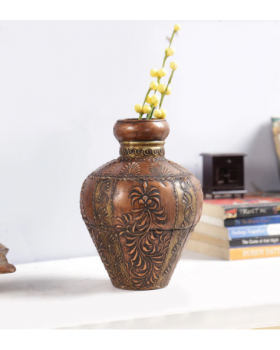 Multicolour Wood Vase
