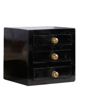 Wenge Vintage Table Collectible 3 Drawers