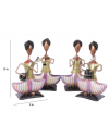 Solid Wood Figurines Set of 4
