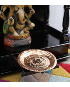 Copper Metal Puja Thali