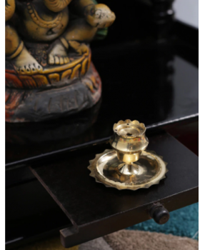 Gold Metal Incense Stand