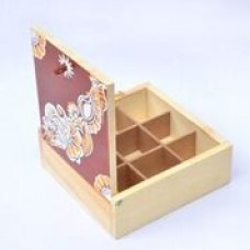 HAND PAINTED BOX( Brown top)
