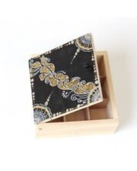 HAND PAINTED BOX (Black top)