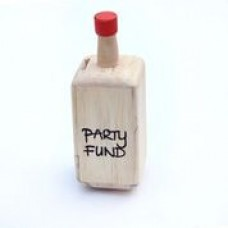 Bottle Shaped Wooden Piggy Bank