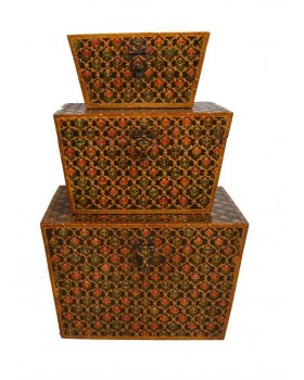 Wooden painted boxes