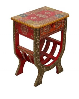 Wooden Hand Made Painted Side Table